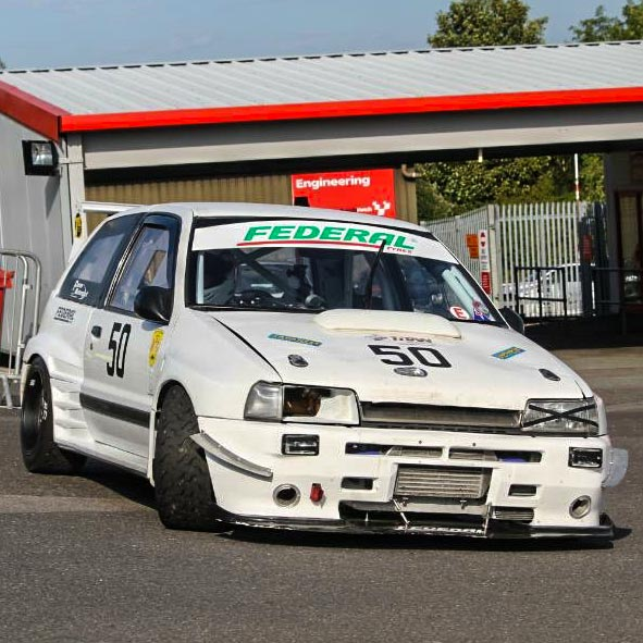 Daihatsu Charade race car at Brands Hatch