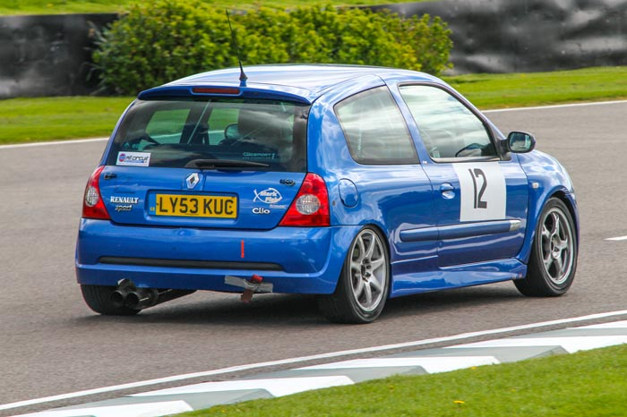 Renault Clio 172 Cup Hire Car at Goodwood