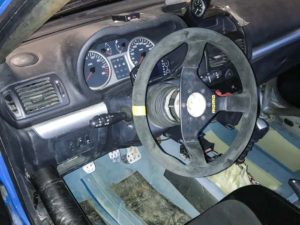 Renault Clio 182 race car interior