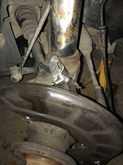 Audi A3 damage brake wiring