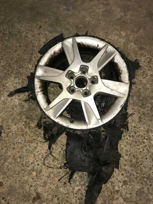 Audi A3 damaged wheel
